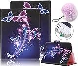 Samsung Galaxy Tab S2 SM-T715 T710 8.0 インチ スマホケース、Vandot 3 In 1 セット スリム 薄型 ソフト PU 合皮レザー タブs2 ケース 手帳型 横置き スタンド機能 マグネット式開閉 カードポケット
