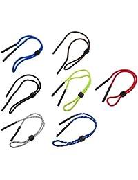 KOZEEY ポリエステル 眼鏡 サングラス コード ロープ 固定 スポーツ用 滑り止め 多色 6本入り