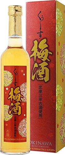 泡盛 くぅーす梅酒 10度 500ml 忠孝酒造(株)