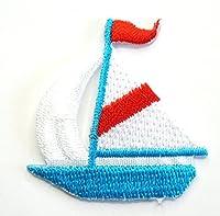 【ノーブランド品】アイロンワッペン ミニワッペン ワッペン 刺繍ワッペン ヨット アイロンで貼れるワッペン