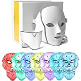 7 Color LED Facial Neck Mask Micro-current LED Photon Mask Remove Wrinkle Acne Skin Rejuvenation Face Beauty Machine
