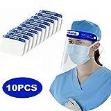 Reusable Face Shield 10PCS - Plastic Face Shield Safety Face Shield Full Face Shield