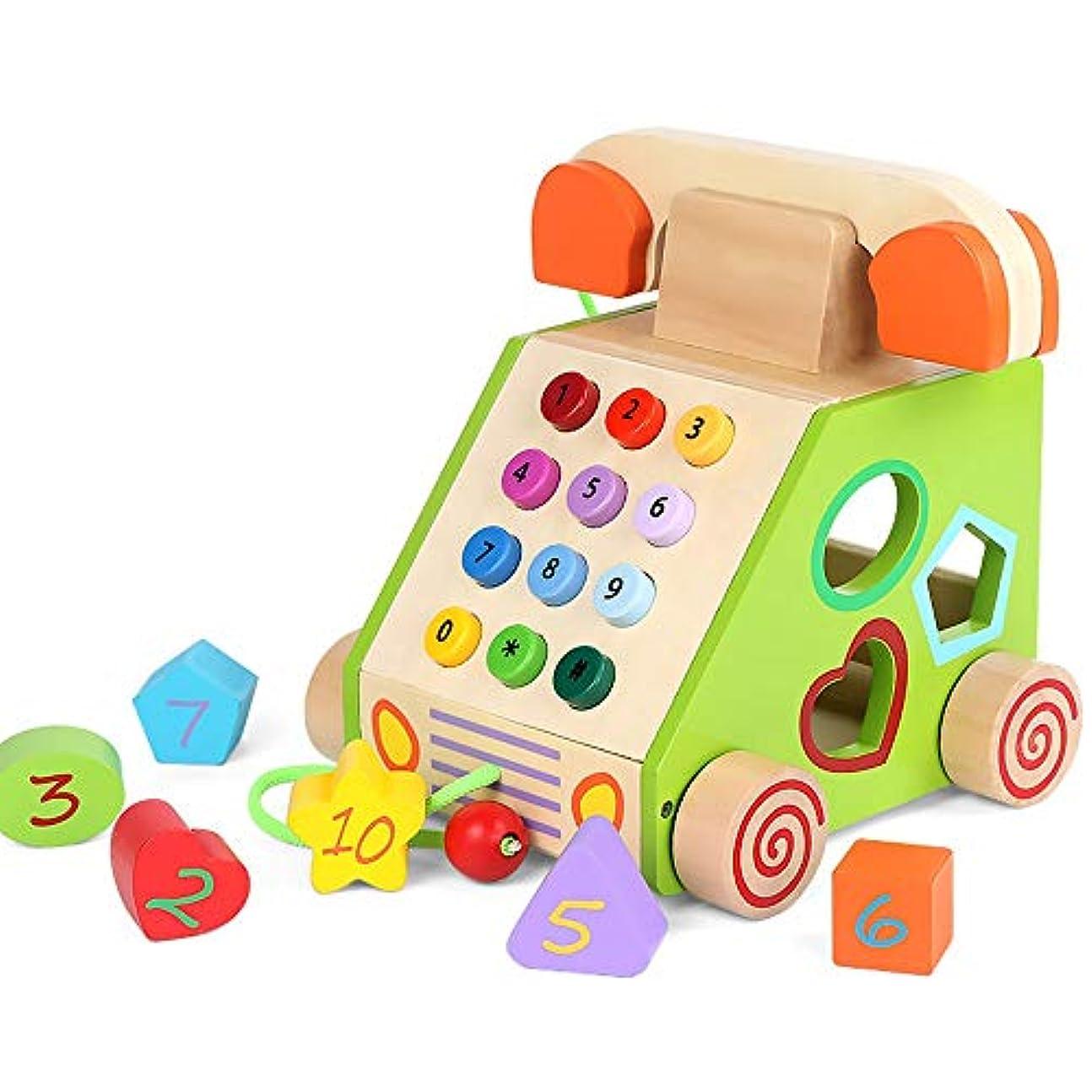 勘違いする自動車ビクター幼児教育子供のおもちゃの電話ビルディングブロックパズル2歳の車の形状インテリジェンス開発形状マッチングおもちゃ