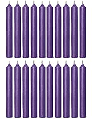 Biedermann & Sons C1123PP Purple Chime Candles- Box of 20