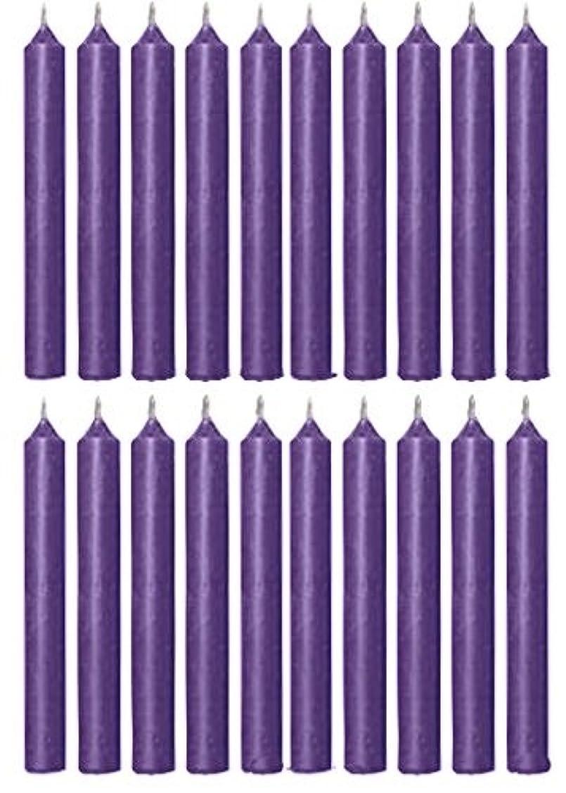 水平はしごの間にBiedermann & Sons C1123PP Purple Chime Candles- Box of 20