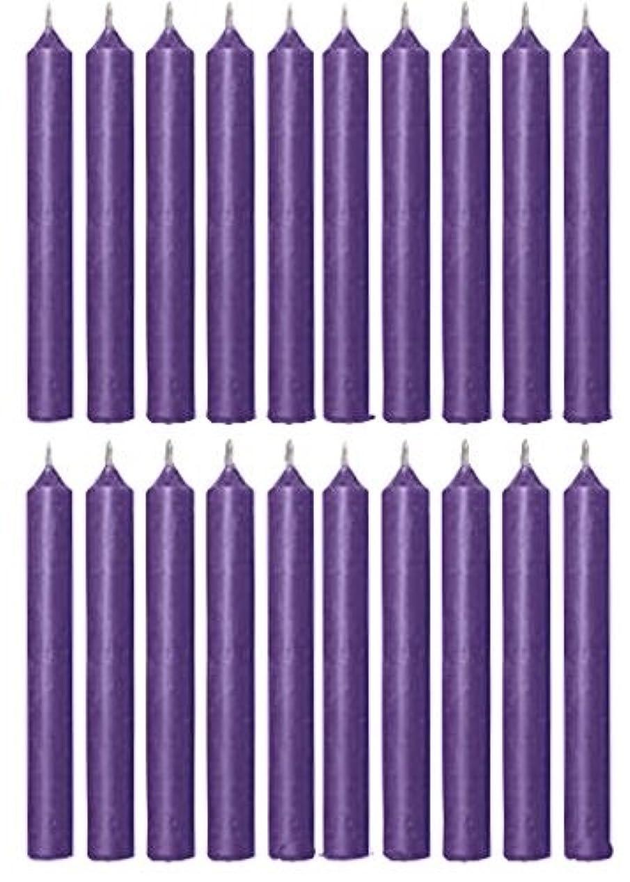 逸脱バングラデシュフィラデルフィアBiedermann & Sons C1123PP Purple Chime Candles- Box of 20