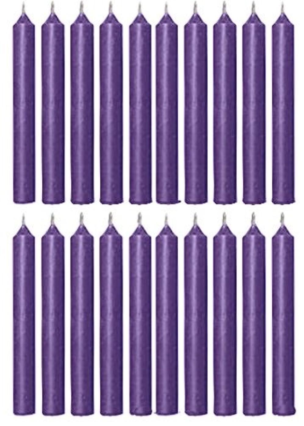 リア王ロバ変わるBiedermann & Sons C1123PP Purple Chime Candles- Box of 20
