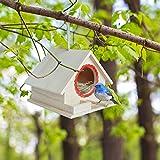 シンプルなデザインで使いやすく、お庭やベランダで野鳥とのふれあいを深めることができます。樹木や軒に吊下げたり、塀などの上に置いてご利用ください。