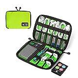 (バッグスマート)BAGSMART PC周辺小物用収納ポーチ ゴム・バンド縫い付け グリーン
