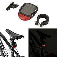 自転車テールライト、ソーラーパワーLED自転車警告ライト防水自転車リアライトサイクリング安全懐中電灯ナイトライディング