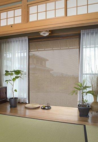 タカショー すだれシェード 京すだれ 焼き竹色 約180×180cm