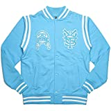 (ステューシー) STUSSY LETTERMANS FLEECE JACKET (JACKET)(018748-BL) ジャケット フリース スタジャン L ブルー