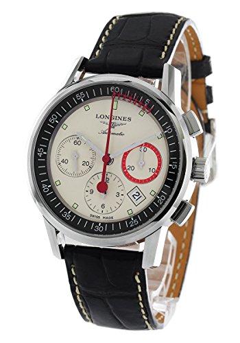ロンジン LONGINES 腕時計 ヘリテージ コラムホイール クロノグラフ アリゲーターレザー メンズ L4.754.4.72.4[並行輸入品]
