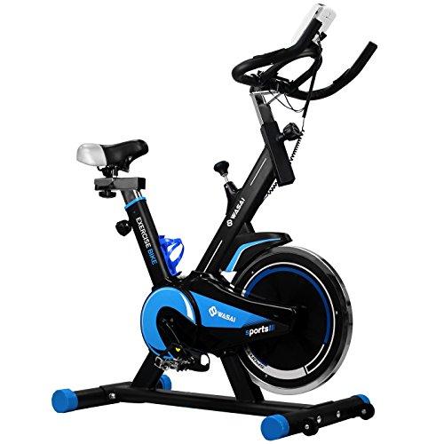 WASAI スピンバイク エクササイズバイク フィットネスバイク 静音 JT600S 室内 本格トレーニング (青)