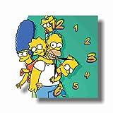 The Simpsons 11'' 壁時計(シンプソンズ)あなたの友人のための最高の贈り物。逆にしているメカニズム。あなたの家のためのオリジナルデザイン