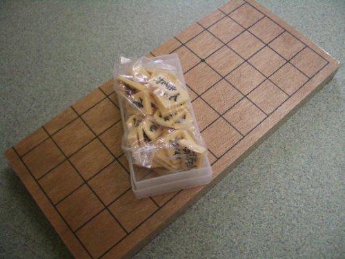 駒付き本格将棋盤フルセット ☆将棋盤と駒の将棋セット -