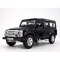 13cm Land Rover Defender Station Waggon Scale Diecast Metal Model - Black