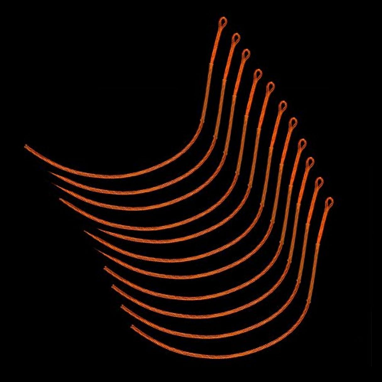 反毒体系的にレイLiebeye ライン フライフィッシング ループ ナイロン 編組 フライ ループ コネクタ 10本/ロット 30LB 50LB
