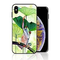 iPhone 11 携帯カバー 蛙 蓮 緑 水彩画 イラスト ナチュラル カバー TPU 薄型ケース 防塵 保護カバー 携帯ケース アイフォンケース 対応 ソフト 衝撃吸収 アイフォン スマートフォンケース 耐久