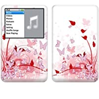 Apple iPod classic スキンシール [IPC-BF7 ピンク バタフライ ファンタジー]
