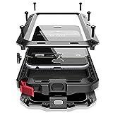 iPhone6/6s plus 5.5インチ用ケース 液晶保護強化ガラスフィルム付き 生活防水/防塵/耐衝撃 アウトドア スポーツ ケース アイフォン6 プラス 対応, ブラック