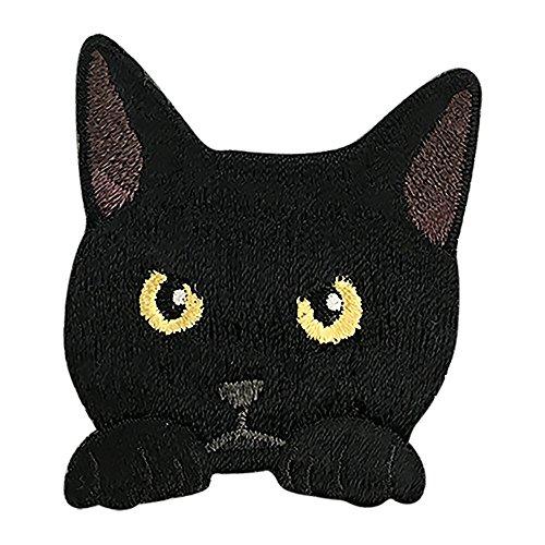 東洋ケース シール 猫刺繍 SS-CAT-01 くろねこ...