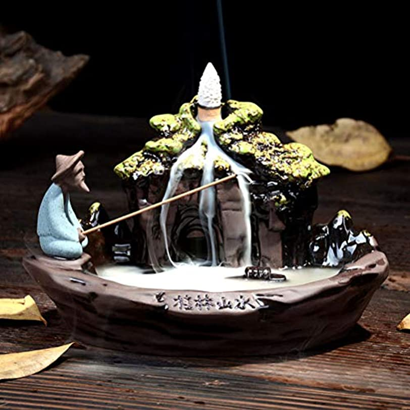 ギターテメリティ造船逆流香バーナー家の装飾セラミック煙逆流香スティックホルダーセンサー