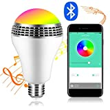 iHOVEN スマートLED電球RGBワイヤレススピーカー内蔵Bluetooth40LEDライト