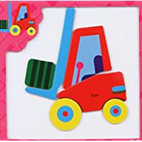 幼児期のゲーム 創造的な教育的な磁気パズルアーリーラーニングの数字の形の色の動物のおもちゃキッズのための素晴らしいギフト(フォークリフト)