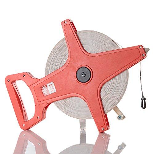 (ドレイス)DOREIS テープメジャー 30m 50m 100m 13mm幅 レッド 3サイズ (100m)