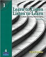 LEARN TO LISTEN LISTEN TO LEARN LEVEL 1 (3E) SB (Learn to Listen - Listen to Learn)