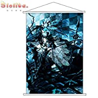 Slolita タペストリー ブラック★ロックシューター BLACK★ROCK SHOOTER BRS ポスター 掛ける絵 巻物 軸物 アニメ おしゃれ 萌え (100cmX70cm)