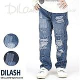 (ディラッシュ) DILASHデニムクラッシュパンツ/春 110 ブルー