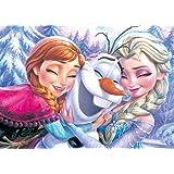 500ピース ジグソーパズル アナと雪の女王 アナ、エルサ&オラフ(35x49cm)