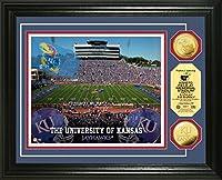 """NCAA Kansas Jayhawks Stadium Coinフォトミント、22"""" x 15"""" x 4インチ、ゴールド"""