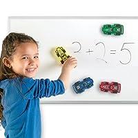 教具 マグネット付ホワイトボードイレーザー 4色セット Magnetic Whiteboard Erasers Set of 4 LER2693