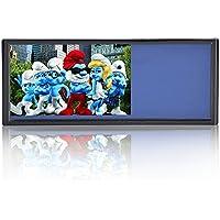 LOSKAルームミラーモニター7インチタッチボタン12V/24V対応 解像度800*480高画質 AV1/AV2系統映像入力 バックカメラ連動機能バックミラーモニター