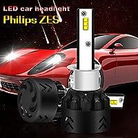 2PCSミニ8ヘッドライト自動車LEDヘッドライトバルブ9600LMヘッドランプ車の交換ライトハロゲンとキセノンキット6000K-9V / 36V,H1