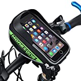 MOREZONE フレームバッグ 5.5インチ自転車スマホホルダー フロントバッグ iphone 6S Pls/6s/5s対応 スマートフォンサドルバッグ収納アクセサリー 緑