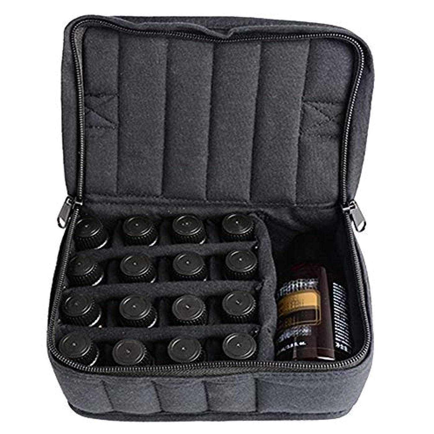 藤色色国内のエッセンシャルオイル収納ボックス ソフト走行ホルスター17オイル貯蔵ボトル用ボトル17 5ミリリットル/ 10ミリリットル元/ 15ミリリットル 丈夫で持ち運びが簡単 (色 : ブラック, サイズ : 17X14X7.5CM)