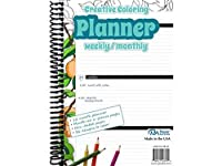 Accent Design Paper Accents ADPCOLOR.20 148 Page Creative Coloring Weekly/Monthly Planner 5.5 by 8 [並行輸入品]