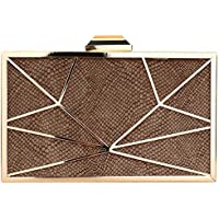DUBUK Snakeskin Hard Box Wedding Evening Bag Bridal Cocktail Evening Clutch Handbag