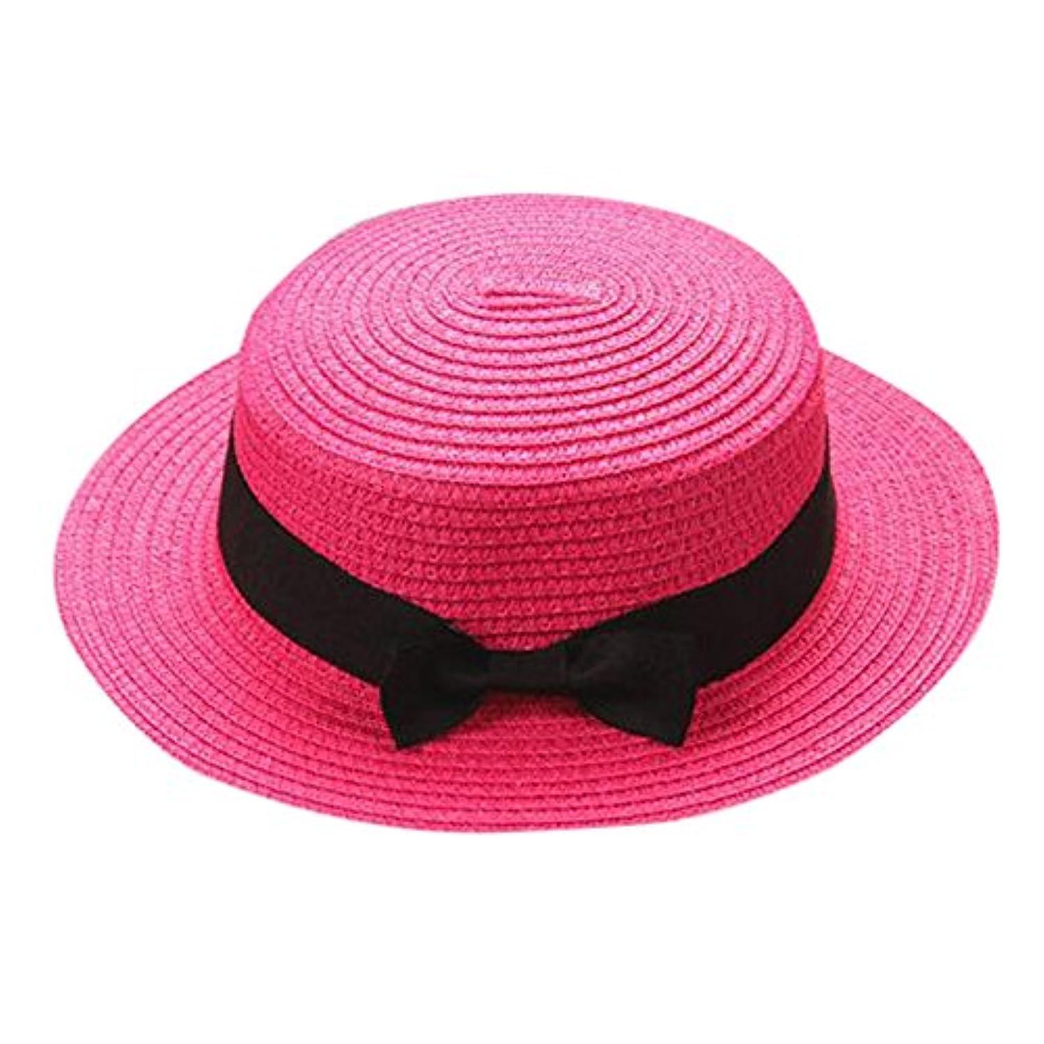 震えローマ人指キャップ キッズ 日よけ 帽子 小顔効果抜群 旅行用 日よけ 夏 ビーチ 海辺 かわいい リゾート 紫外線対策 男女兼用 日焼け防止 熱中症予防 取り外すあご紐 つば広 おしゃれ 可愛い 夏 ROSE ROMAN