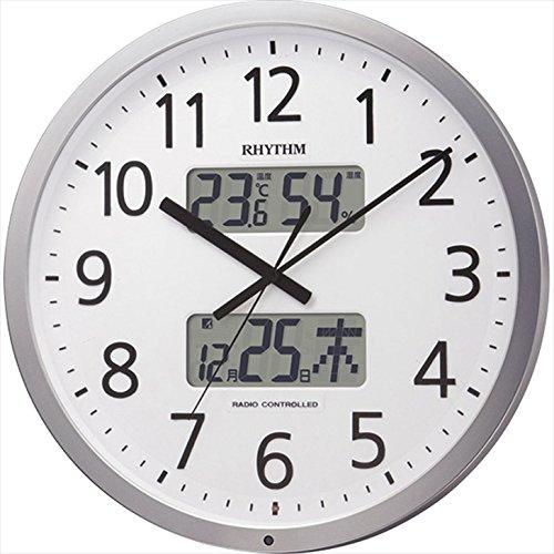 リズム プログラムカレンダー403SR 【壁掛け かべかけ アナログ あなろぐ オフィス 学校 塾 事務所 ステップ秒針 電波時計 シンプル チャイム F7104-04】 通販パーク