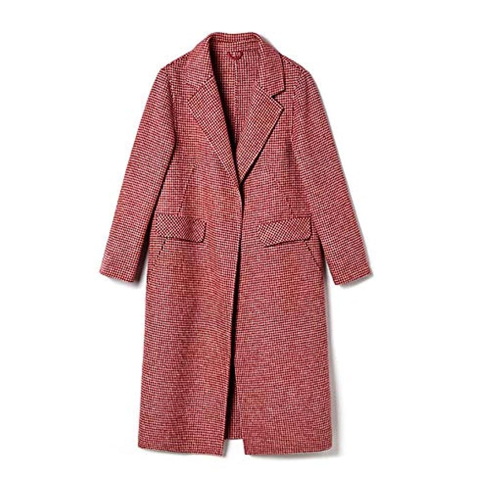 グッゲンハイム美術館周辺自分の両面カシミヤのコート、長いセクションレディースコートレディースウインドブレーカージャケット女性の秋と冬人気のウールウールコート,M