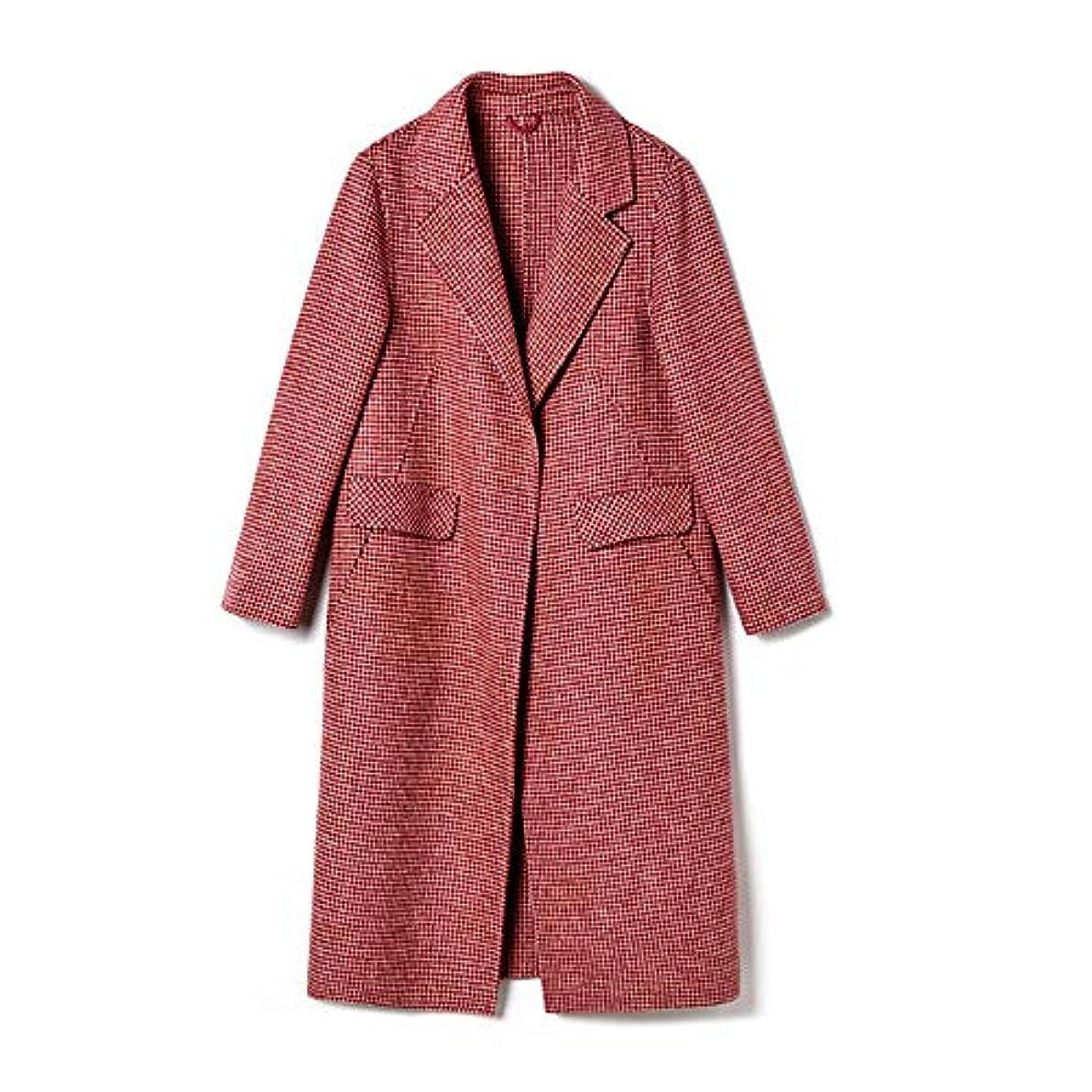 受益者流出歴史的両面カシミヤのコート、長いセクションレディースコートレディースウインドブレーカージャケット女性の秋と冬人気のウールウールコート,M