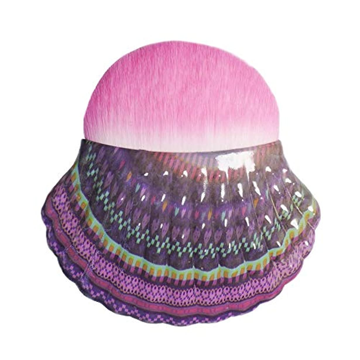 顕現日食コメンテーターMakeup brushes 化粧シングルシェル赤面ブラシ化粧ブラシツールポータブル多機能化粧ブラシ、ピンク suits (Color : Pink Gradient)