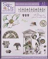 See D 'sゴシックMagnolia 12詳細なゴム製スタンプとケース# 50195SugarLoaf