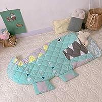 100% 綿 子供の 寝袋, 漫画 赤ちゃん 寝袋 キックキルト のために適した 少年 幼稚園-ワニ-70x150cm(28x59inch)