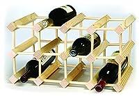 Modular Solid Pine Wine Rack - 12 Bottles